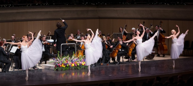 """The production of the """"Salute to Vienna"""" features a cast of 75 musicians and European singers and dancers decked out in colorful Viennese costumes."""