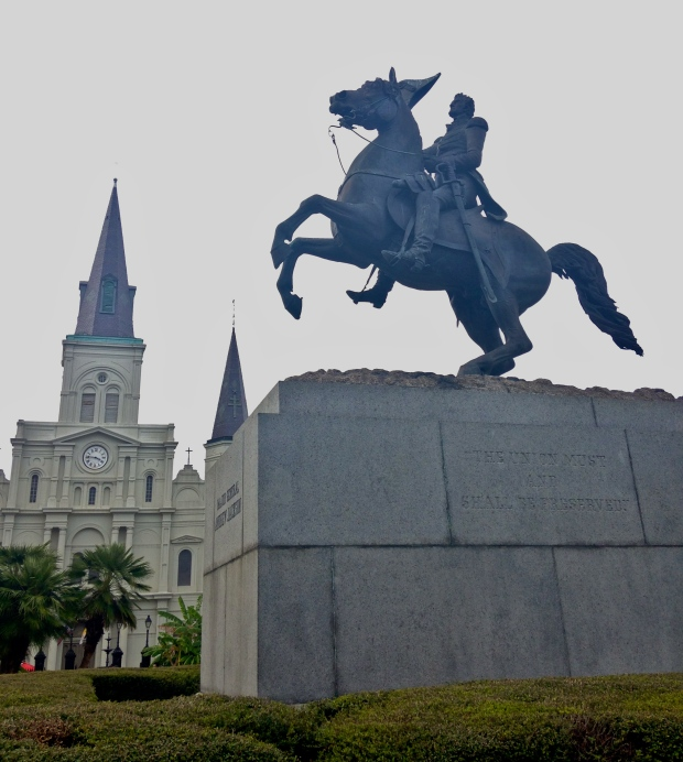 Jackson Square is named for the Battle of New Orleans hero Andrew Jackson. (Photography Jenna Intersimone)