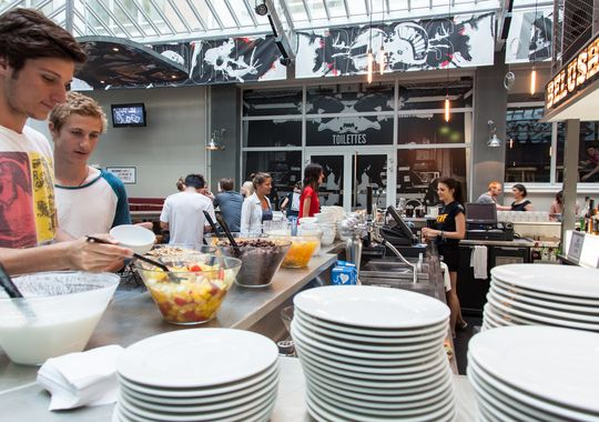 St Christopher's Gare du Nord in Paris provides free breakfast to its guests, a prevalent hostel feature. (Courtesy of St. Christopher's Inns)
