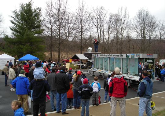About 4500 people head to the annual open house at the Pequest Trout Hatchery every year. (Courtesy of the Pequest Trout Hatchery)