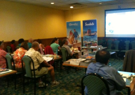 About four to five suppliers visit the Association of Home-Based Travel Agents at their monthly seminars. (Photo: Courtesy of Frank Hryszkanich)
