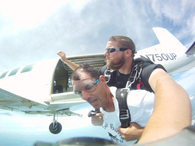 Chuck Owen, owner of Skydive Jersey, said that no one gets in the plane and is completely fearless. (Photo: Courtesy of Skydive Jersey)