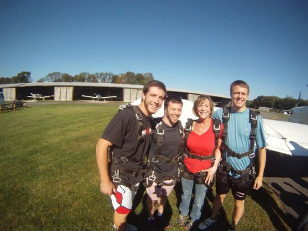 """No matter how intimidated a person is when they first arrive, no one has ever landed and not had a smile on their face and been ecstatic,"" said Chuck Owen, owner of Skydive Jersey. (Photo: Courtesy of Skydive Jersey)"