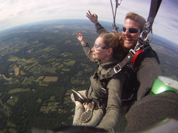 Chuck Owen, owner of Skydive Jersey, said that skydiving is a very transformative experience. (Photo: Courtesy of Skydive Jersey)