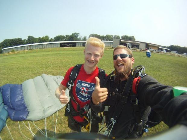 "After the experience is over, Owen said there is usually a ""'wow,' and then speechlessness."" (Photo: Courtesy of Skydive Jersey)"