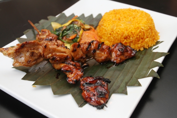 Pork barbeque combo by chef Homer Reyes at La Parilla de Manila, Wednesday, August 19, 2015, in Colonia, NJ.