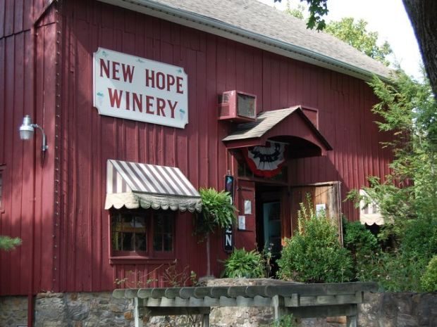 For $10, thirsty travelers can taste five wines from the wine list and pick up a New Hope Winery etched glass from 11 a.m. to 5 p.m. everyday. ~Courtesy of winetrailadventures.com