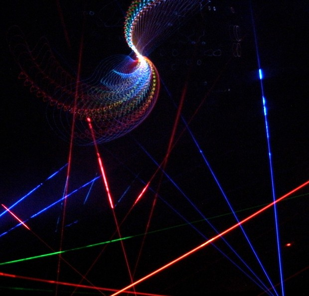 The Planetarium produces their own laser shows. ~Courtesy of Raritan Valley Community College Planetarium