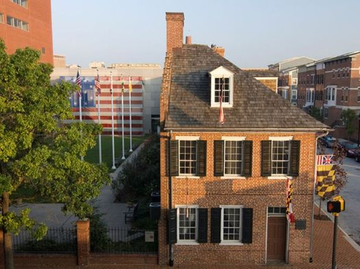 Baltimore is the site of the Star-Spangled Banner Flag House, which was the home and business place of Mary Pickersgill, who sewed the garrison flag Francis Scott Key witnessed flying over Fort McHenry that inspired him to write our national anthem. ~Courtesy of baltimoreheritage.com