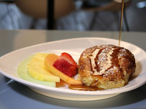 Skylark Diner's stuffed French toast is a twist on the classic breakfast item. ~Courtesy of Skylark Diner