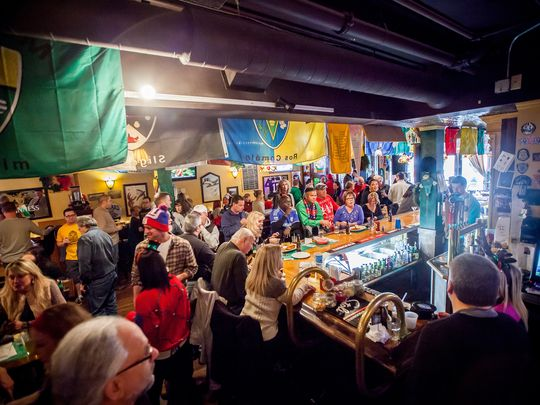 A celebration at Hailey's Harp and Pub. (Photo: ~Courtesy of Heather Lee Photography)
