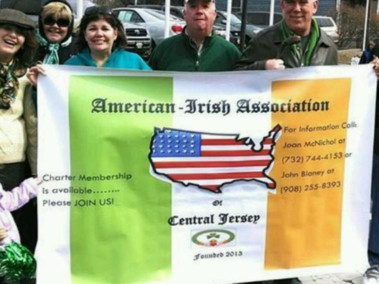 The American-Irish Association of Central Jersey in the Somerville St. Patrick's Day parade. (Photo: ~Courtesy of Joan McNichol)