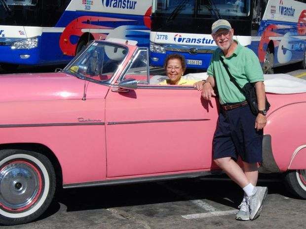 Arlene and David Kaplan of the Gillette section of Long Hill visited Cuba last month. ~Courtesy of David J. Kaplan