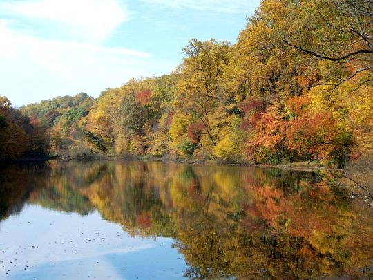 Lake Surprise in Union County's Watchung Reservation is a prime destination for hikers, kayakers and fishermen all year long. (Photo: ~File photo)