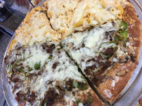 Cheesesteak Pizza at Goodfellows Pizza and Italian Specialties. (Photo: ~Courtesy of Goodfellows Pizza and Italian Specialties)