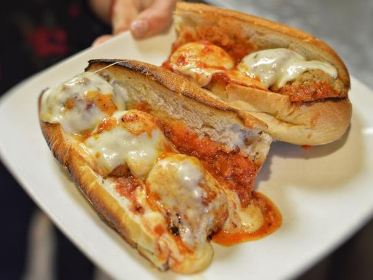 Meatballs at Nunzio's Kitchen are used in a variety of dishes, including this meatball sub. (Photo: ~Courtesy of Nunzio's Kitchen)
