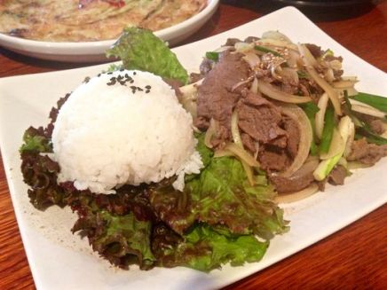 Bulgogi, or Korean grilled marinated beef, is a favorite among customers. Jenna Intersimone/Staff Photo