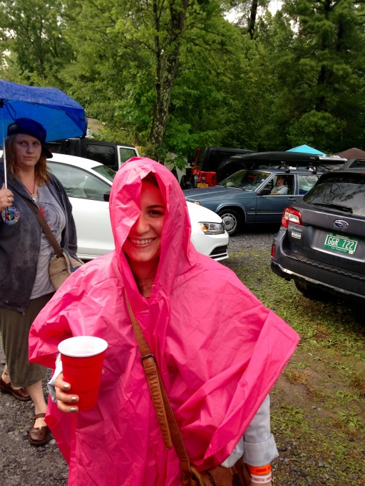 Troopin' it out in the pouring rain before night 1.