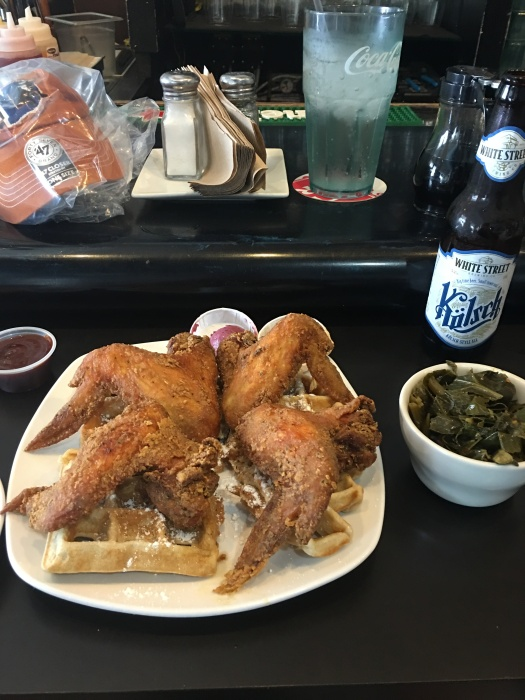 Chicken and waffles at Dame's.
