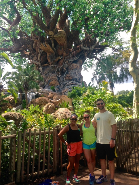 Dona, me and Andrew in front of the Tree of Life in Animal Kingdom.