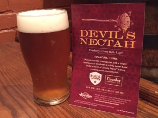 Devil's Nectah, the beer Flounder collaborated with Samuel Adams to create.  ~Courtesy of Samuel Adams