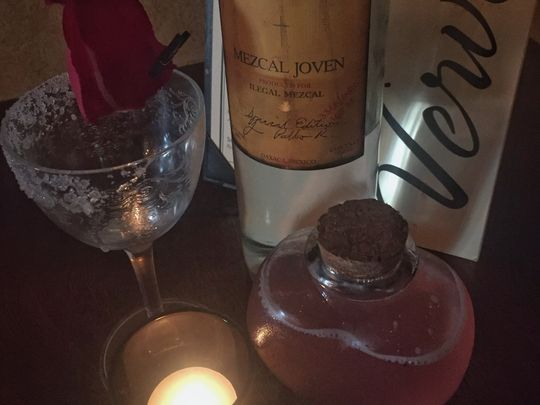 Roses for Shakey, a signature fall cocktail at Verve. (Photo: ~Courtesy of Bryan Mack)