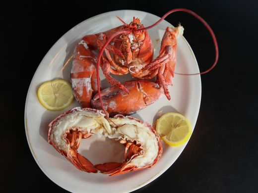 Steamed lobster served at Vinnie's Clam Bar, located on Somerset Street in Raritan, NJ, June 1, 2015. Mary Iuvone/For The Courier News  Mary Iuvone/For The Courier News
