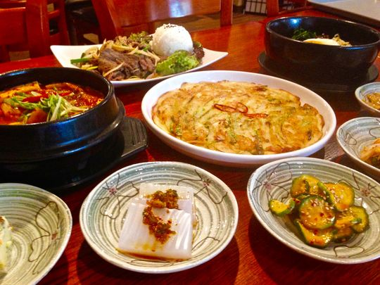 A traditional meal of Korean food. (Photo: Jenna Intersimone/Staff Photo)