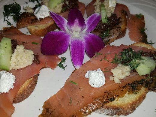Smoked Salmon infused with vodka and dill being served on Limani's holiday menu.  ~Courtesy of Limani