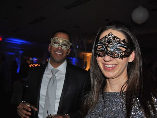 Last year's masquerade party, which had an Ice Ball theme.  ~Courtesy of Kay and eLLe Productions