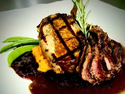 A game plate of wild boar and venison will be offered on the Frenchtown Inn's Valentine's Day menu.  ~Courtesy of Dylan Lypham and Ed Jorden