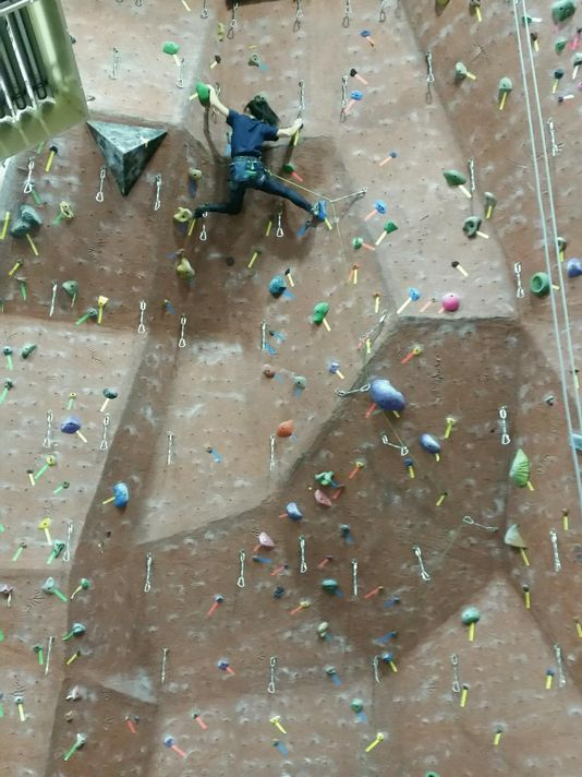 Rock climbing provides both a rush and a workout. (Photo: ~Courtesy of Michael Fortunato)