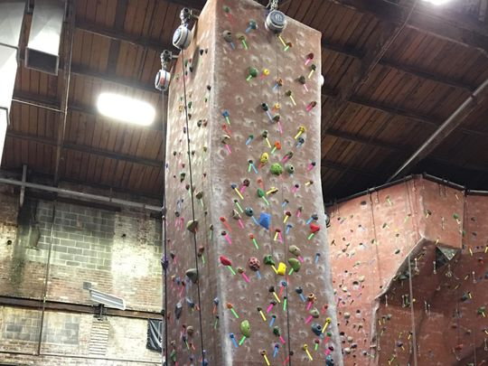 Rockville Climbing Center has rock walls of all types. (Photo: ~Courtesy of Michael Fortunato)