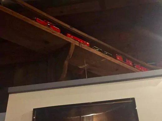 The much-loved train set still chugs around Tumulty's.  Jenna Intersimone/Staff Photo
